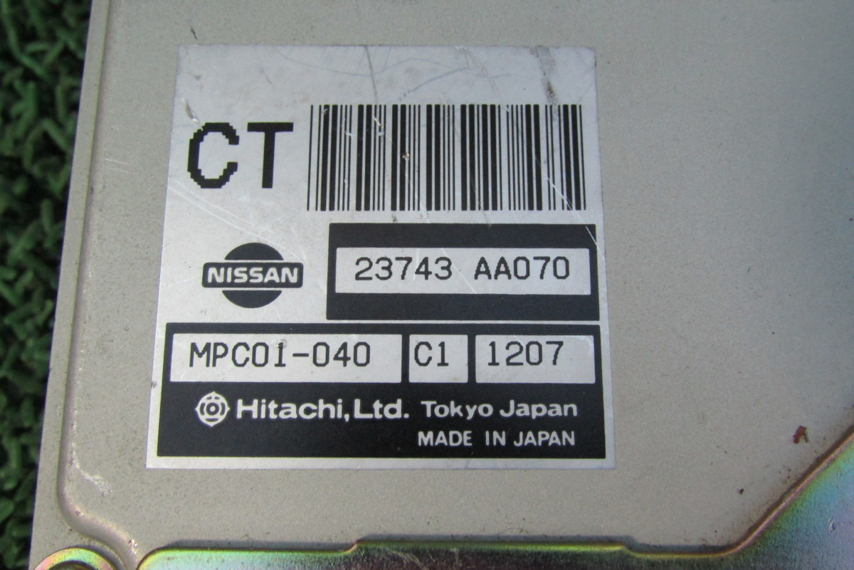 日産 H12年 HR34 R34 スカイライン RB20DE AT オートマ 純正 エンジン CPU ECU コンピューター 部品品番 23743 AA070 CT_画像2