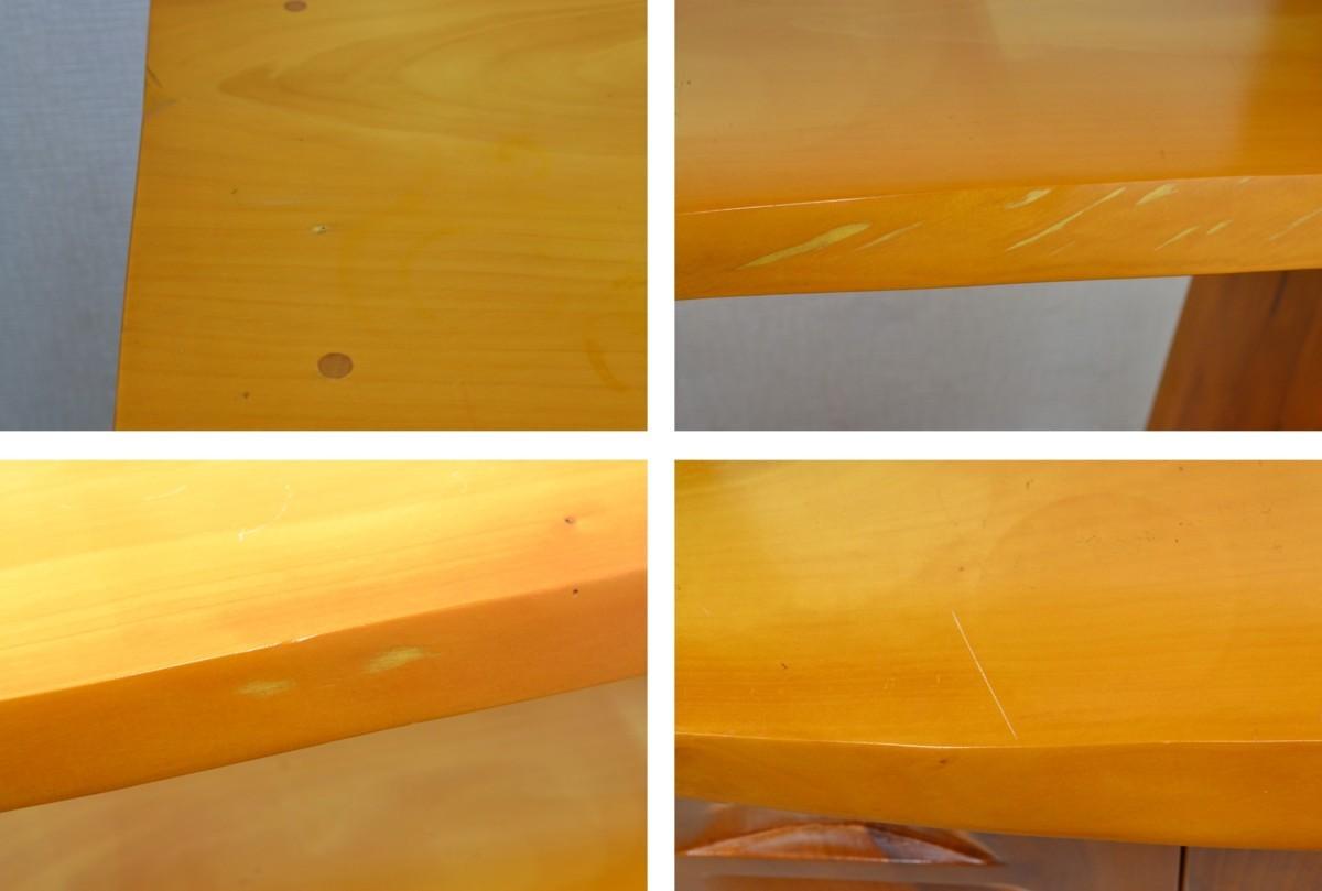 g390■和風 飾り棚■外寸 約幅1300×奥行き325×高さ1160mm■樺材_画像7