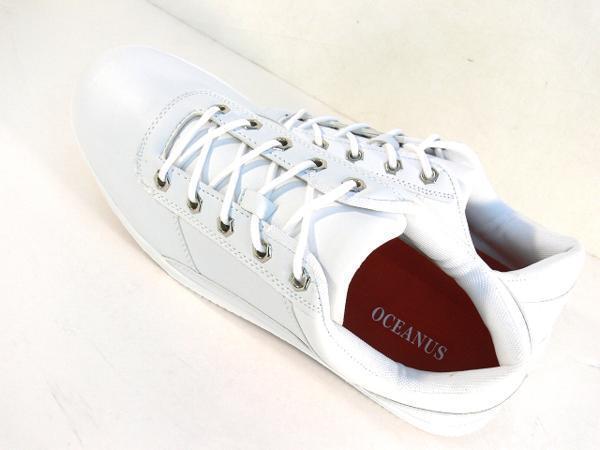42mk  スニーカー 白 メンズ 大きいサイズ 痛くない 運動靴 紐靴 (ホワイト) 26cm_画像3