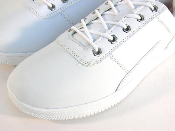 42mk  スニーカー 白 メンズ 大きいサイズ 痛くない 運動靴 紐靴 (ホワイト) 26cm_画像6