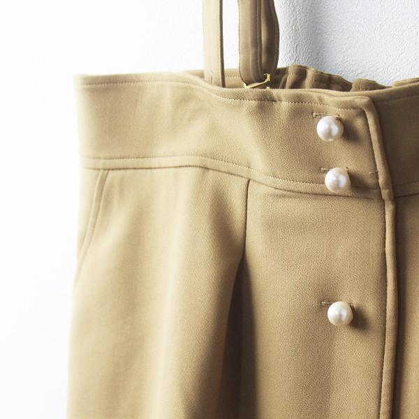 Rose Tiara ローズティアラ サスペンダー 付き フロント パール ボタン スカート 46/-ベージュ ボトムス シンプル【2400011471789】_画像4