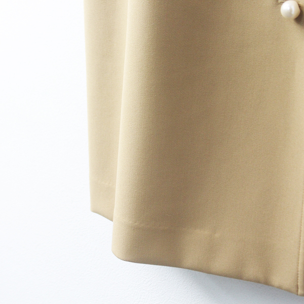 Rose Tiara ローズティアラ サスペンダー 付き フロント パール ボタン スカート 46/-ベージュ ボトムス シンプル【2400011471789】_画像5