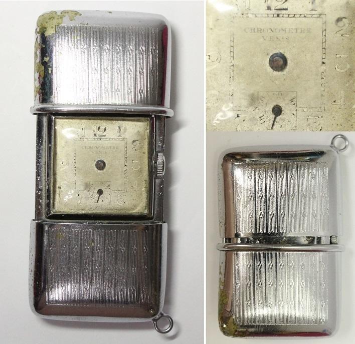 変わった開閉式 懐中時計 レターパックプラス可 1031R4r_画像1