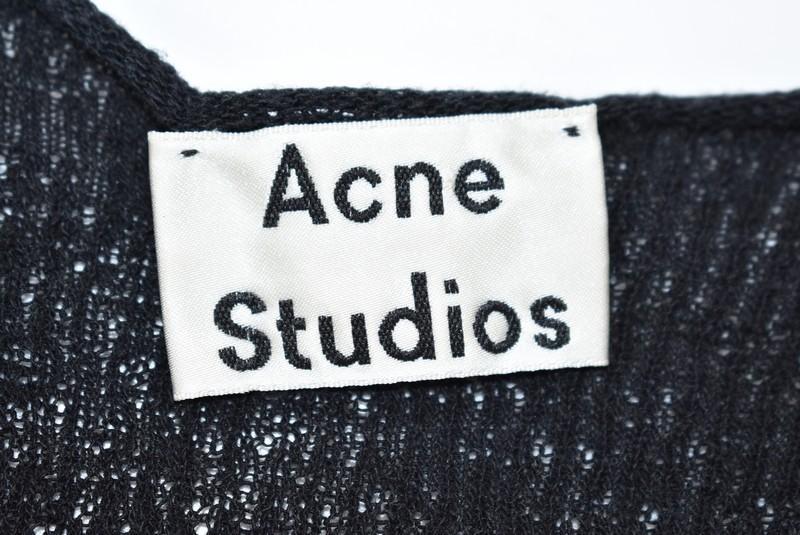 ACNE STUDIOS/アクネストゥディオズ 17SS ローゲージ半袖カットソー KLASS サイズ:M カラー:ブラック 19n11_画像3