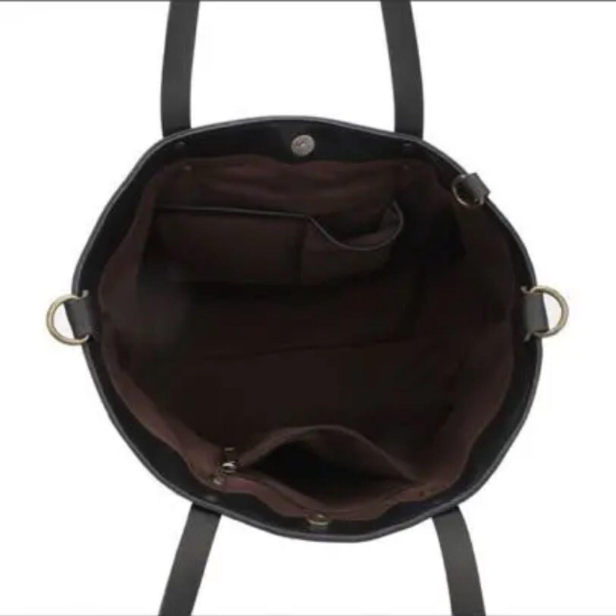 トートバッグ レザー ブラック サイズ:45×30×15