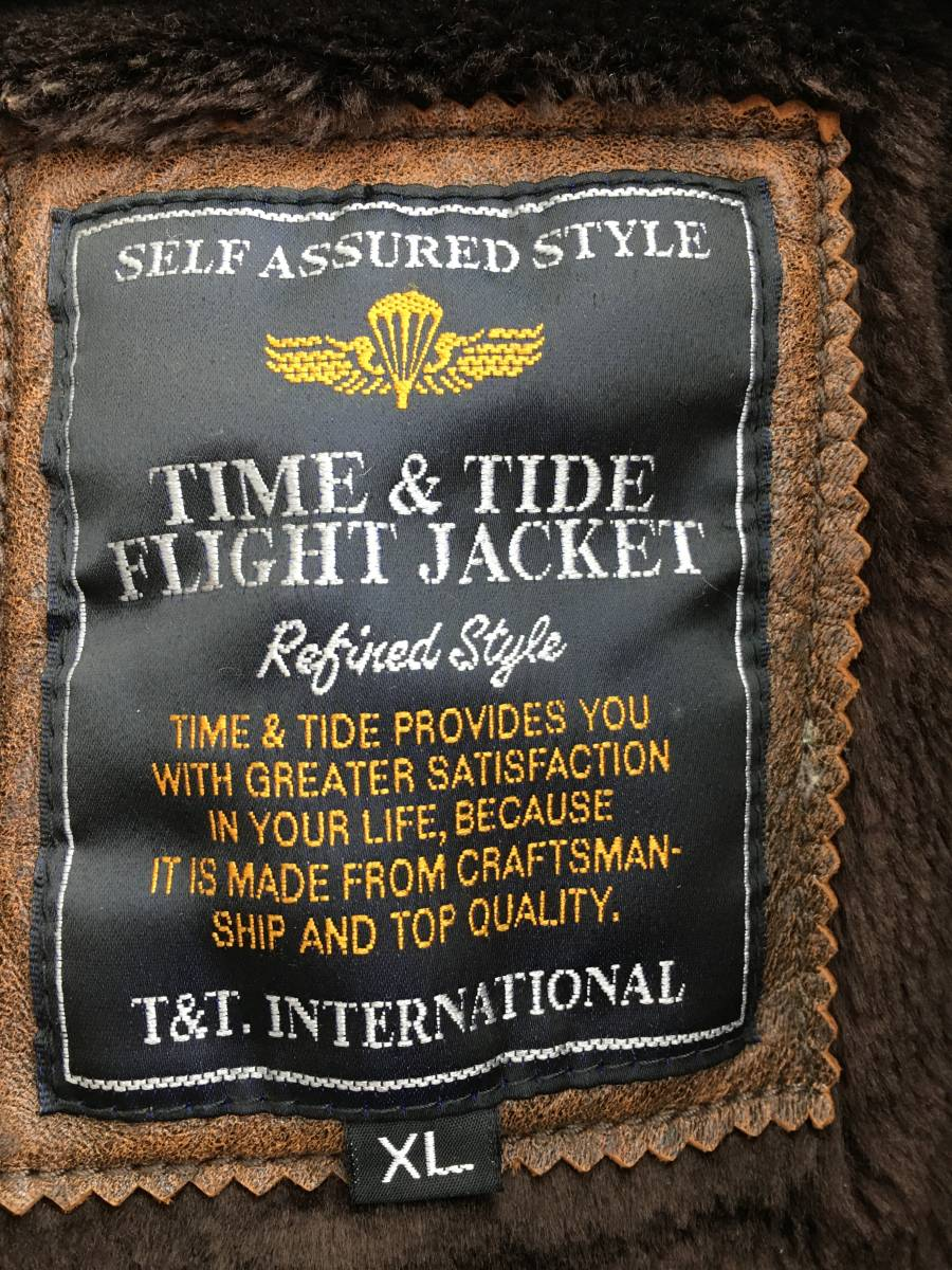 Time&Tide レザージャケット【羊革】 XLサイズ_画像3