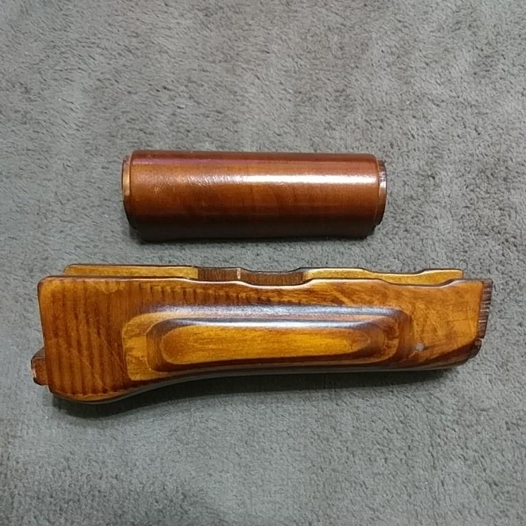 LCT E&L GHK AKM リアルウッド ハンドガード アッパー・ロア セット 木製 AK74 AK47 東京マルイ 互換性なし