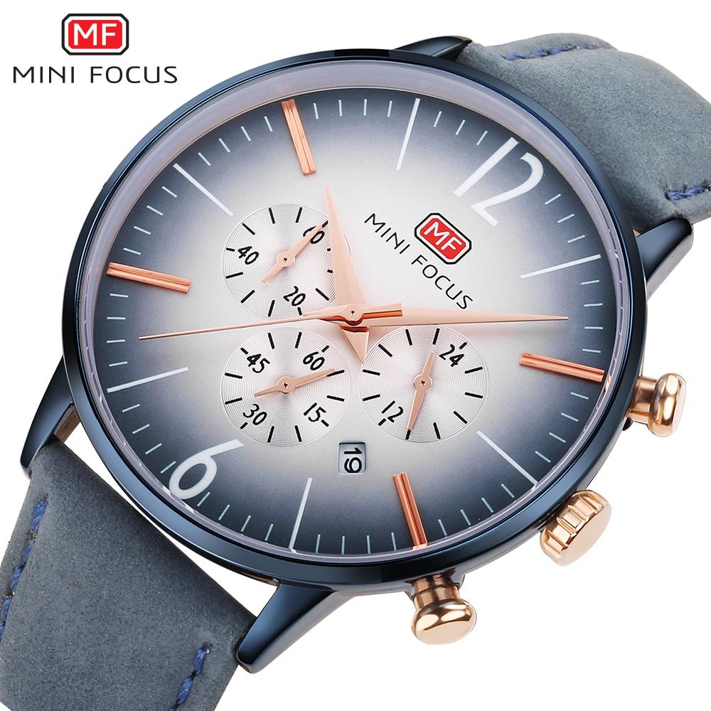 【お買い得◆最低落札価格無し◆新品未使用◆ハイブランド】MINI FOCUS 高級 メンズ クォーツ式 腕時計 防水 クロノグラフ 色選択可◆1049_画像1