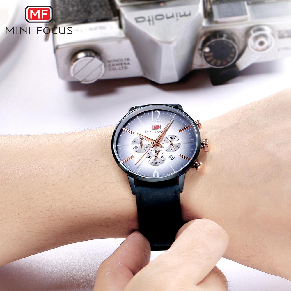 【お買い得◆最低落札価格無し◆新品未使用◆ハイブランド】MINI FOCUS 高級 メンズ クォーツ式 腕時計 防水 クロノグラフ 色選択可◆1049_画像8