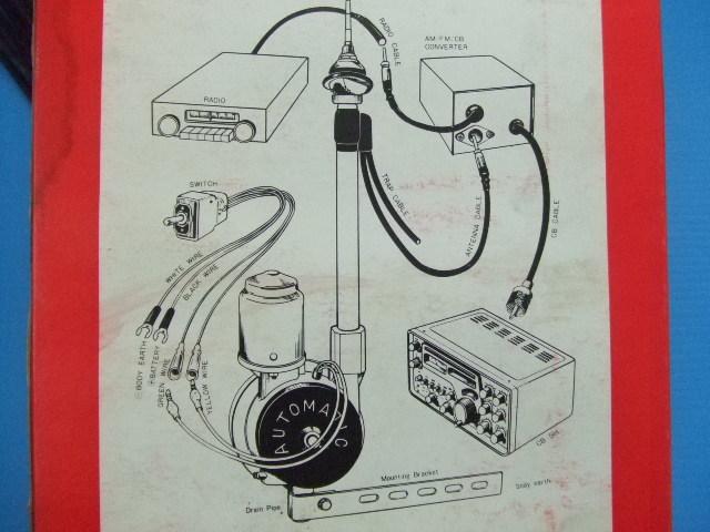 激レア 当時物 新品 12V用 日本製 ラジオ AM FM CB 電動モーター アンテナ 旧車 昭和 レトロ ビンテージ オートマチック 品番 nw-610CB_画像6