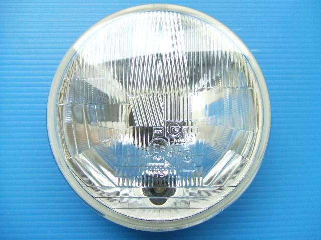 当時物 新品1個 シビエ 平面レンズ 丸目4灯 ヘッドライト ロービーム旧車ヘッドランプ丸形 丸型145パイ CIBIE バルブ ポジションランプ無し_画像1