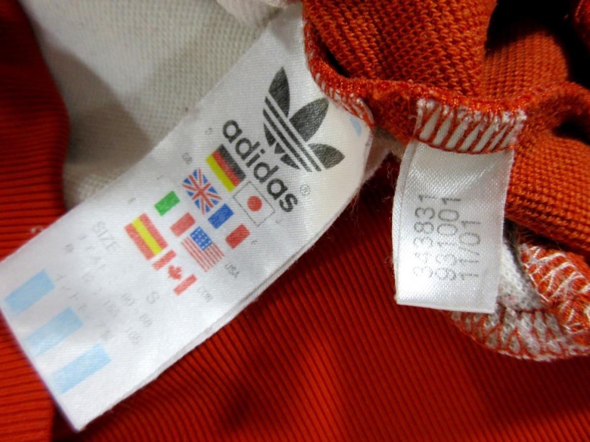 adidas Originals アディダス オリジナルス ハーフZIP ジャージトップ トラックジャケット オレンジ_画像6