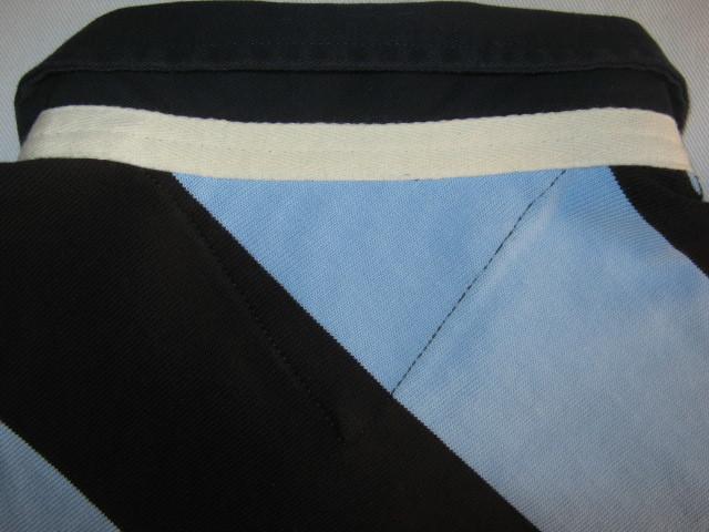 ★古着 TOMMY HILFIGER トミーヒルフィガー ラガーシャツ XL 斜めストライプ柄 黒×水色×紺 ラグビージャージ★_画像5