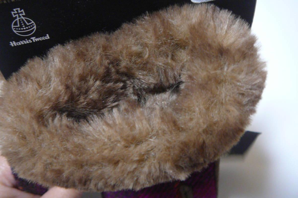 ●ハリスツイードレディース手袋 毛・豚革、スマホ対応_画像5