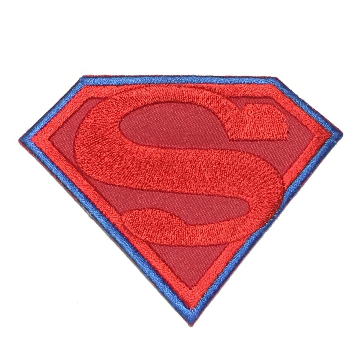 112 Superman スーパーマン ロゴ アイロン ワッペン リペア カスタム 刺繍ワッペン アメコミ ヒーロー_画像1