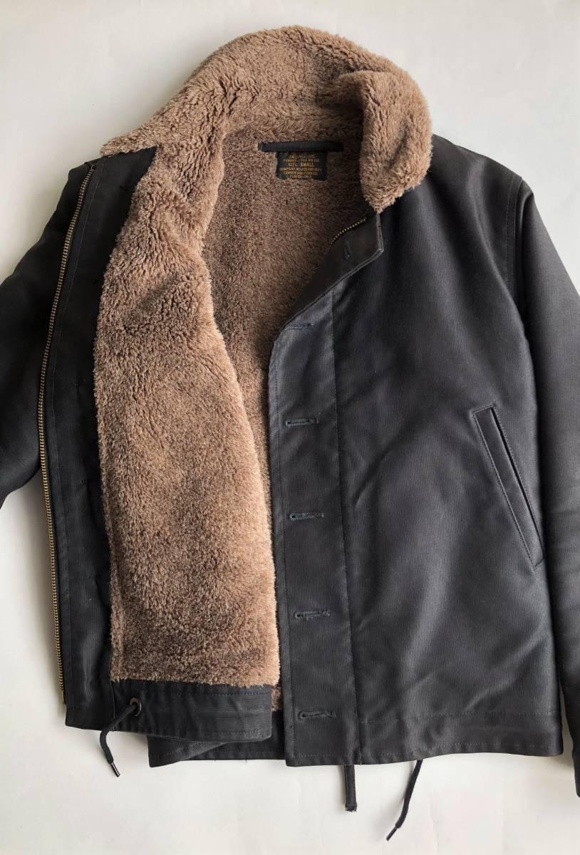 ●美品 RADIALL ラディアル N-1 デッキジャケット ブラック 裏ボア サイズS●_画像2