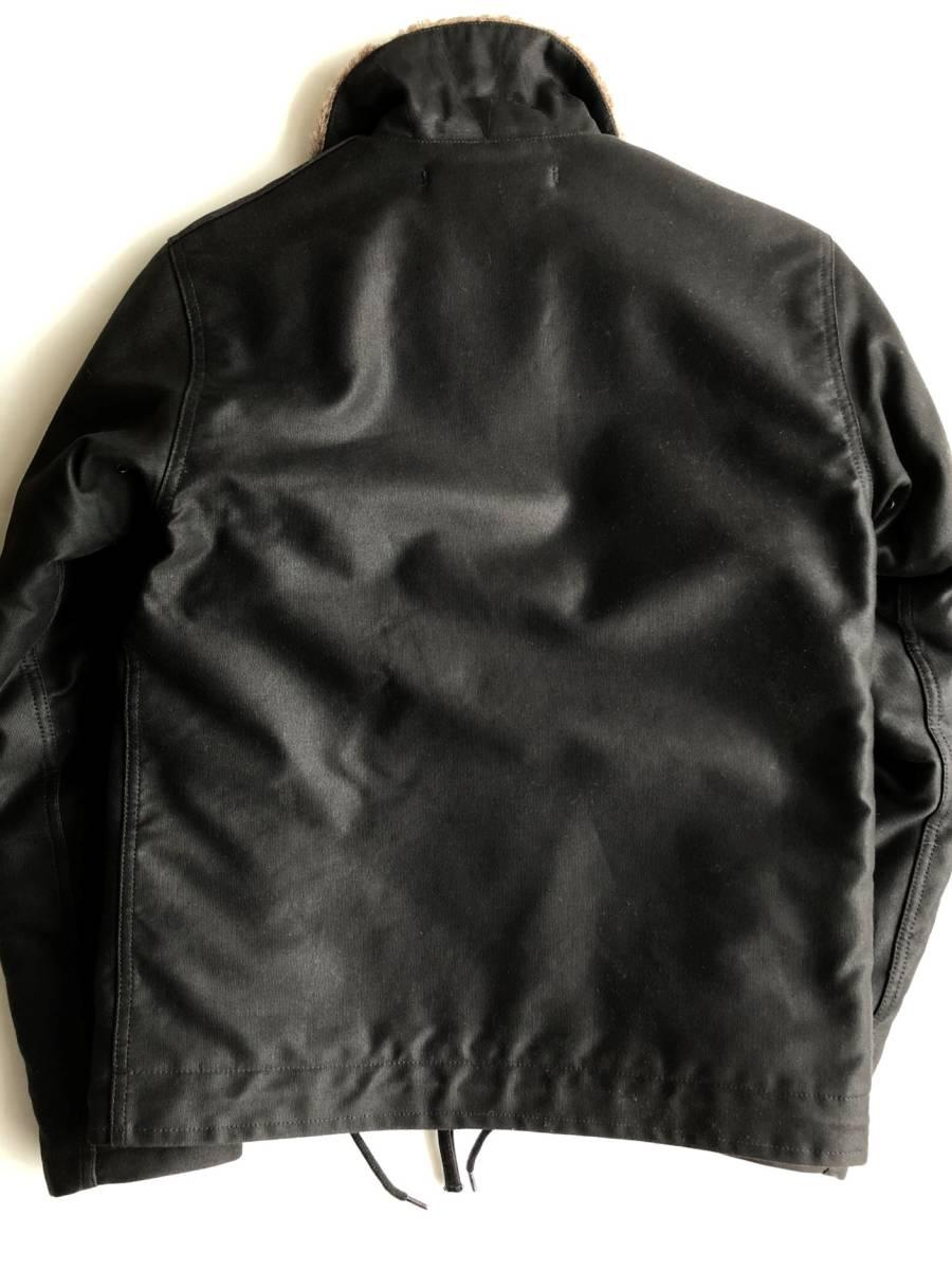 ●美品 RADIALL ラディアル N-1 デッキジャケット ブラック 裏ボア サイズS●_画像7