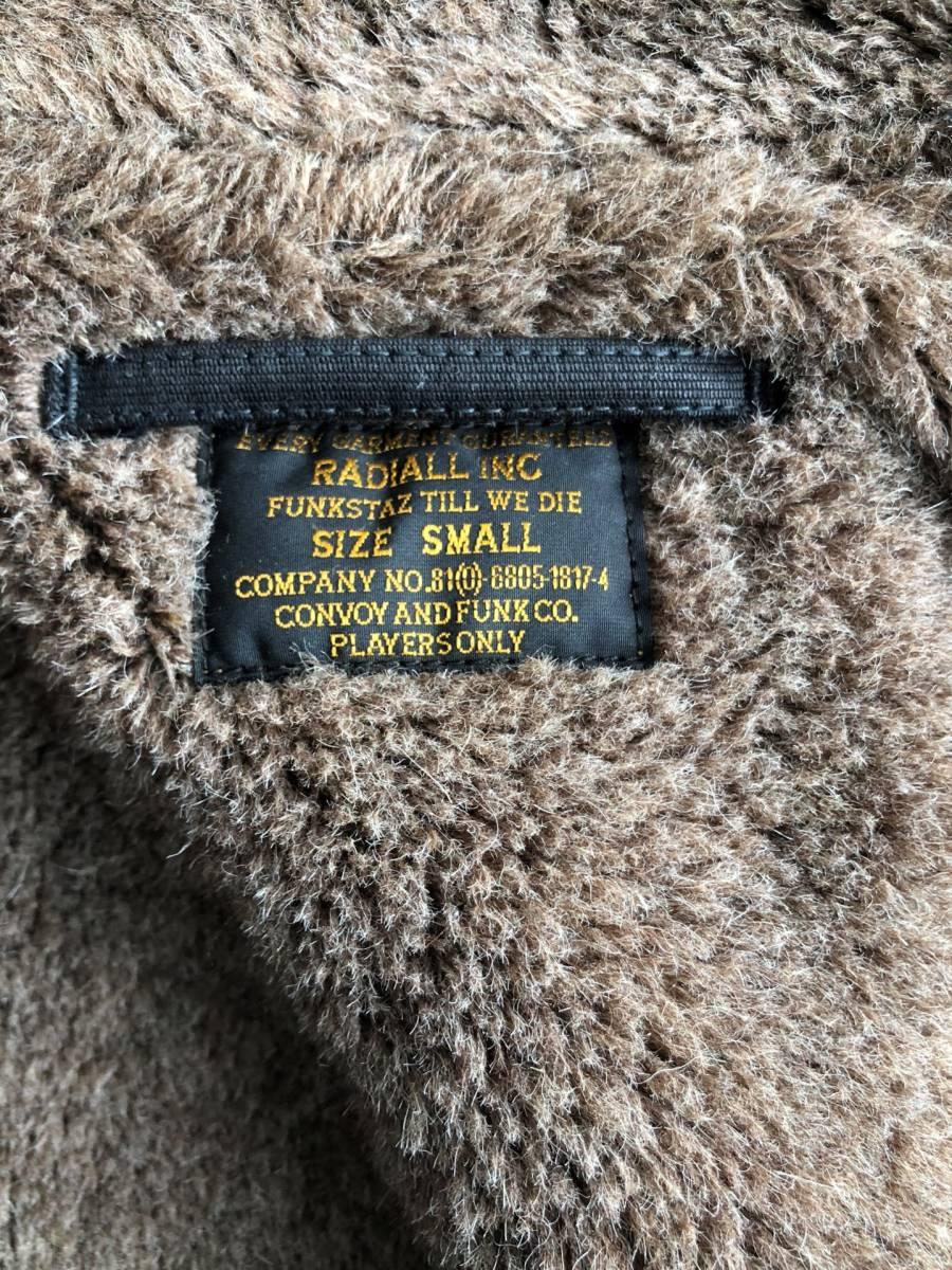 ●美品 RADIALL ラディアル N-1 デッキジャケット ブラック 裏ボア サイズS●_画像4