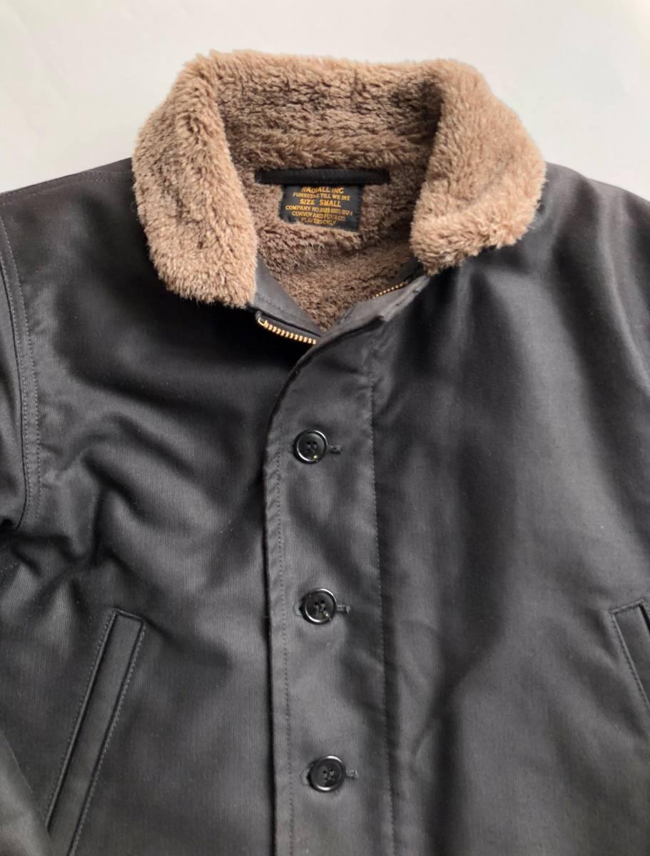 ●美品 RADIALL ラディアル N-1 デッキジャケット ブラック 裏ボア サイズS●_画像3