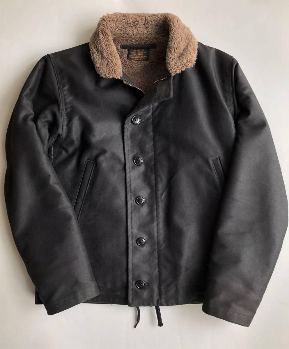 ●美品 RADIALL ラディアル N-1 デッキジャケット ブラック 裏ボア サイズS●