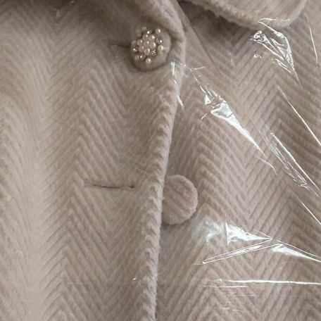 グレー コート ベルト付 クリーニング済