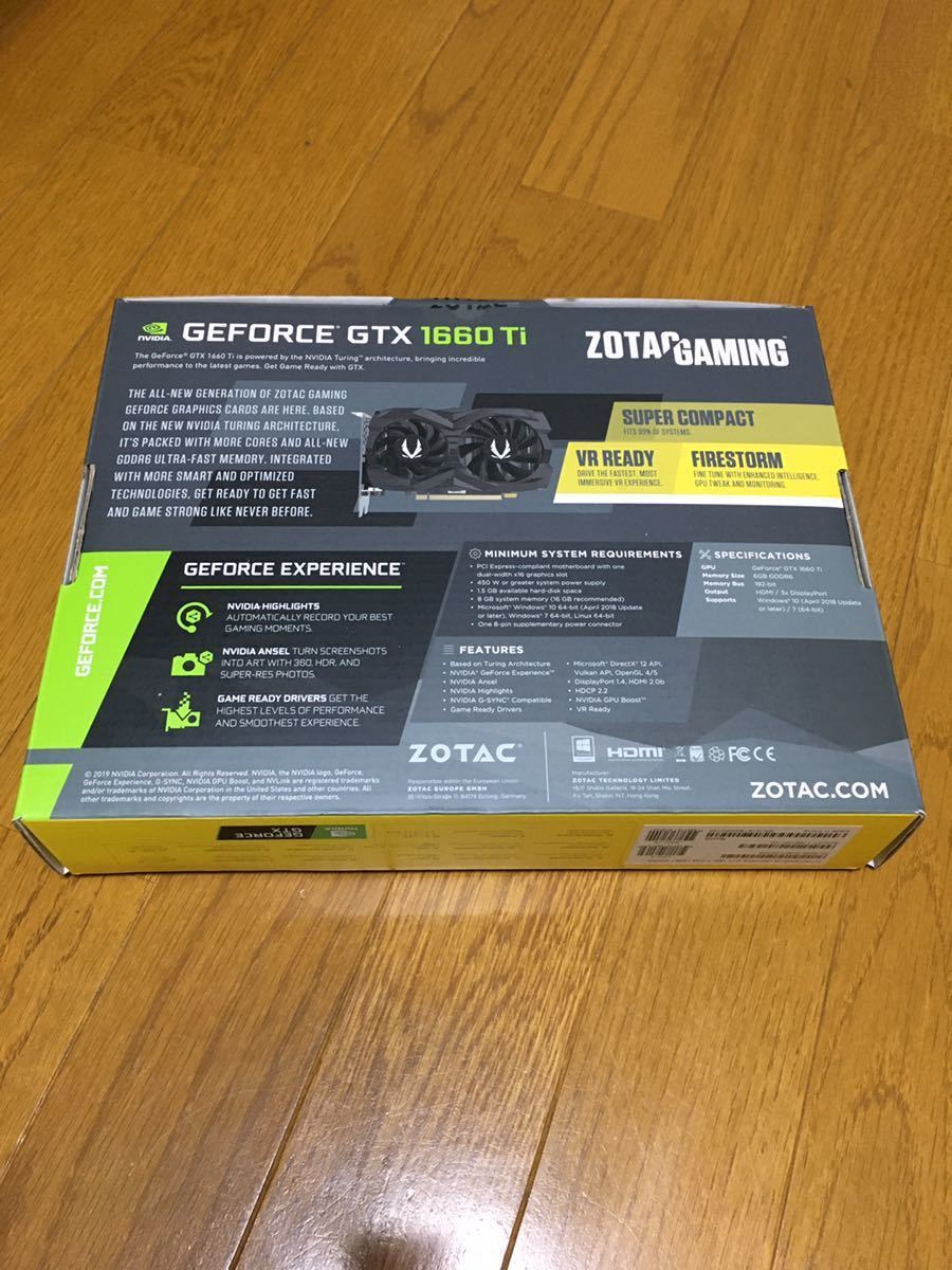 ゾタック OTAC GAMING GeForce GTX 1660 Ti 6GB GDDR6 ZT-T16610F-10L [PCIExp 6GB]_画像2