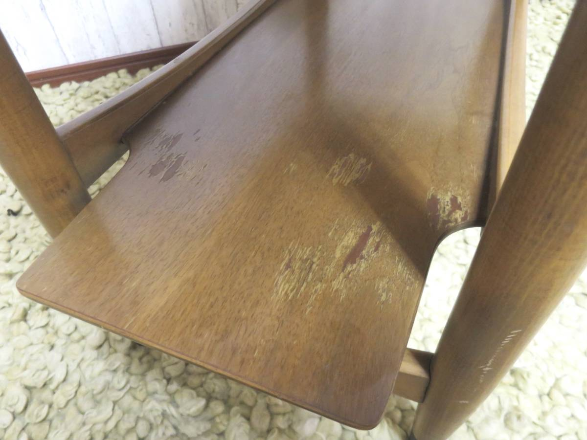 ビンテージ 60's サイドテーブル ミッドセンチュリー インテリア 机 テーブル ヴィンテージ 1960 家具 ファニチャー モダン 店舗什器_画像7