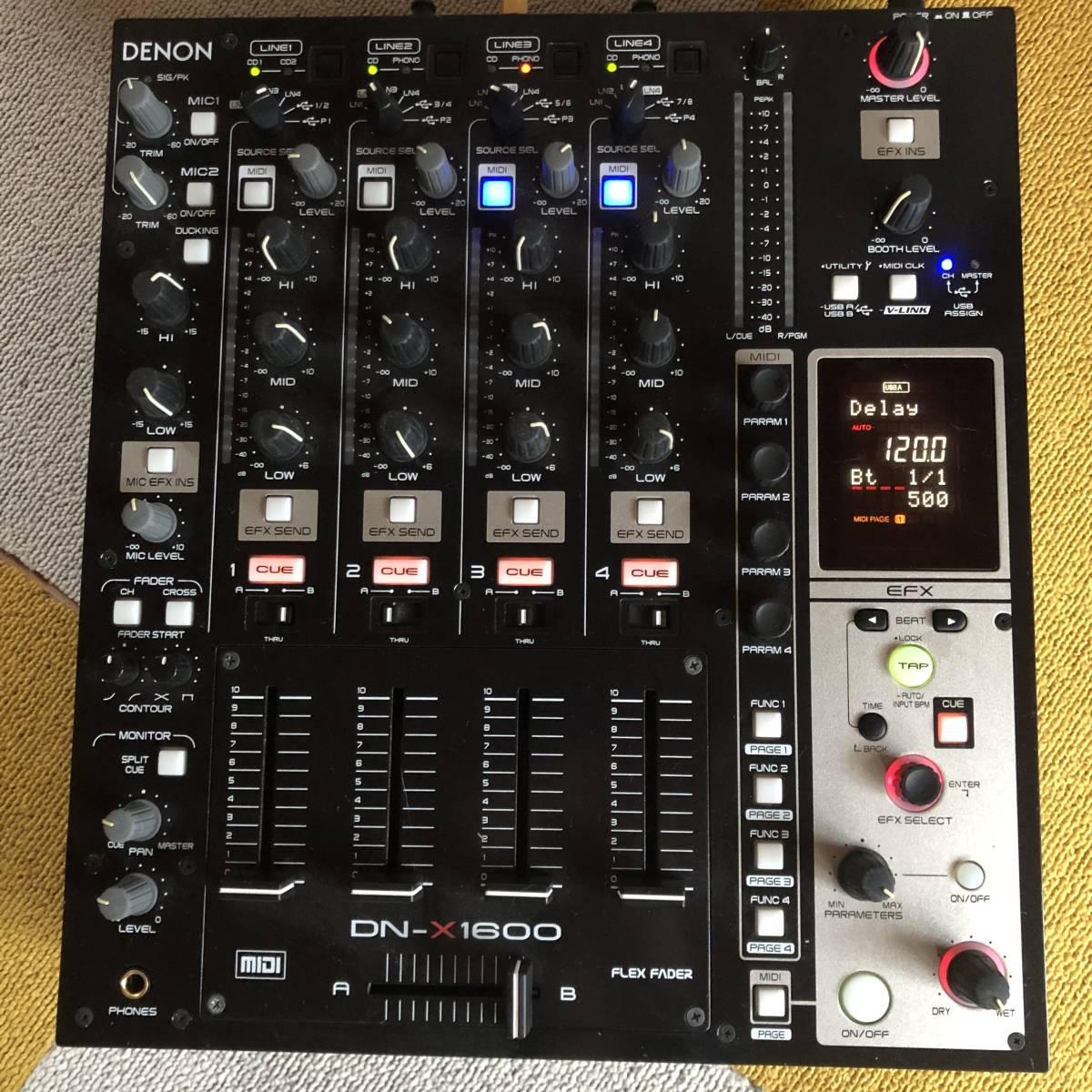 完動品 DENON デノン DN-X1600 プロフェッショナル 4ch DJミキサー