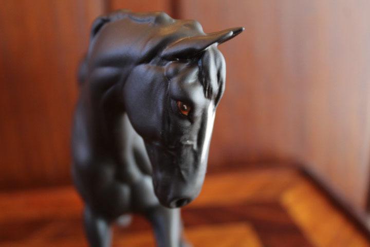 【ロイヤルドルトン】ブラックホース 黒い馬 フィギュリン 人形 置物_画像9