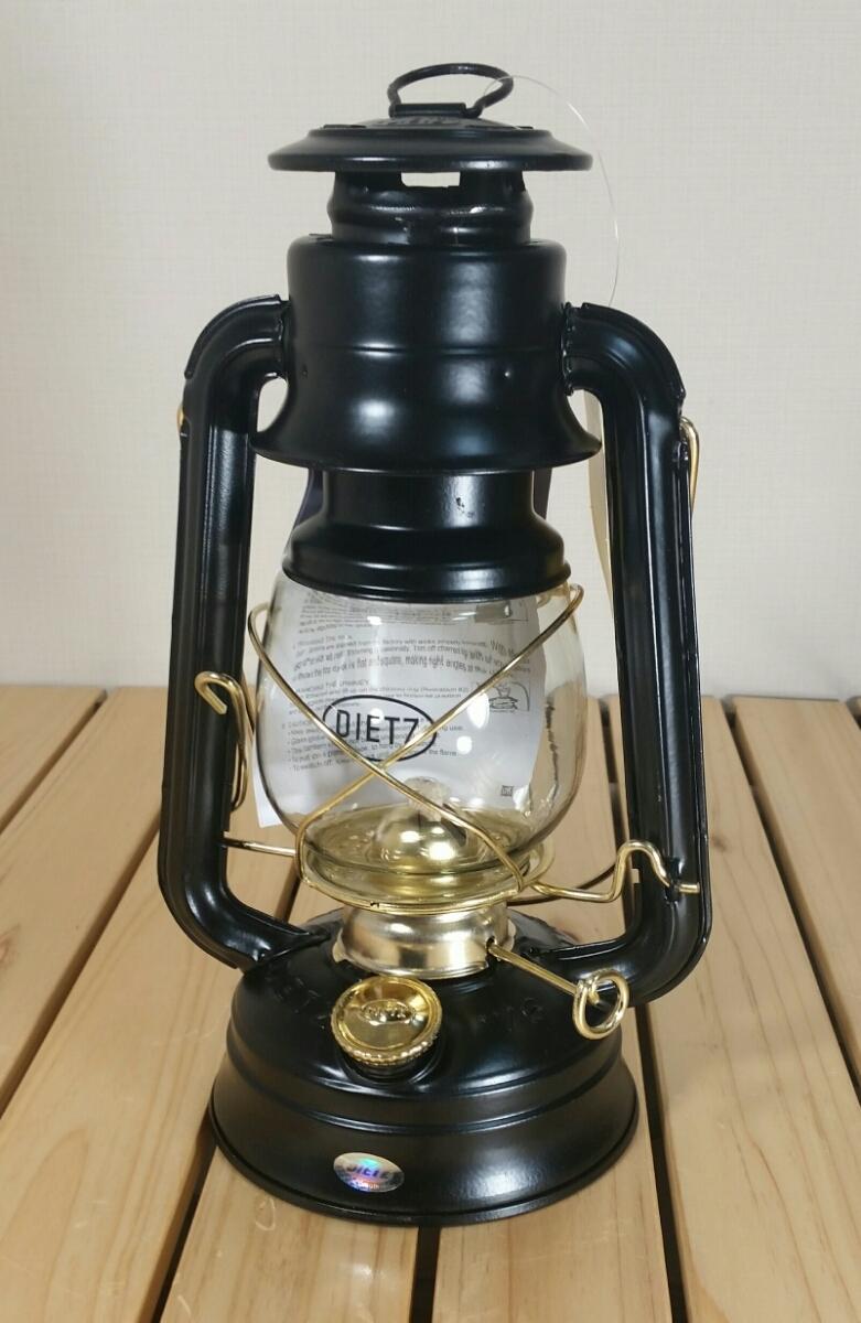 日本未発売■新品■Dietz Original #76 Oil Lamp Burning Lantern■デイツ ハリケーンランタン ランタン■ブラック/ゴールド■黒/金