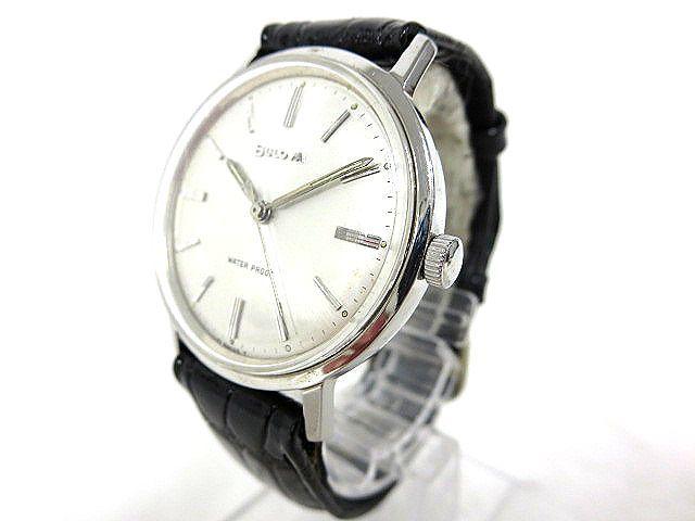 BULOVA WATER PROOF ブローバ メンズ腕時計 手巻き 3針/文字盤 ホワイトパール系 スイス製 ジャンク m16-10y