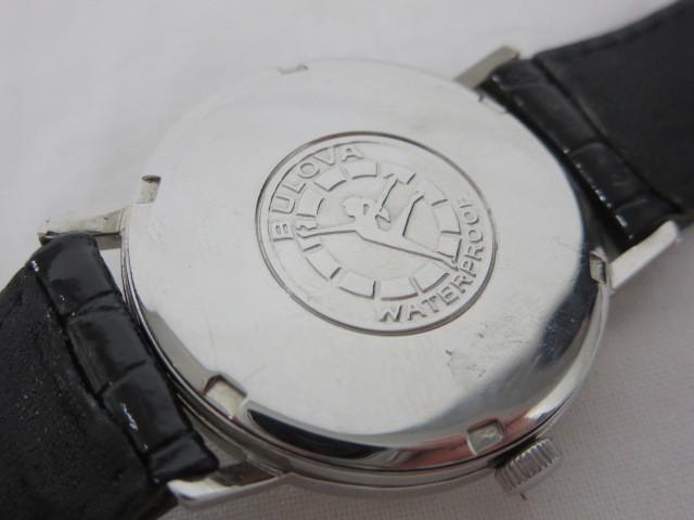 BULOVA WATER PROOF ブローバ メンズ腕時計 手巻き 3針/文字盤 ホワイトパール系 スイス製 ジャンク m16-10y_画像4