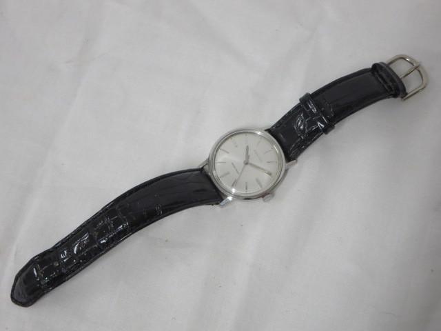 BULOVA WATER PROOF ブローバ メンズ腕時計 手巻き 3針/文字盤 ホワイトパール系 スイス製 ジャンク m16-10y_画像5