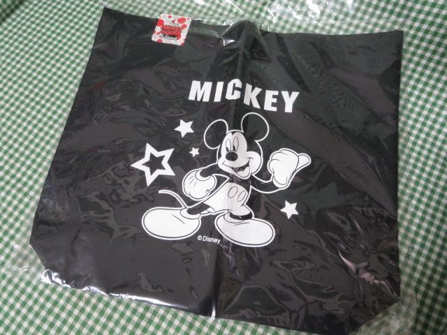 ミッキーマウス トートバッグ 黒 39.5×35cm_画像1