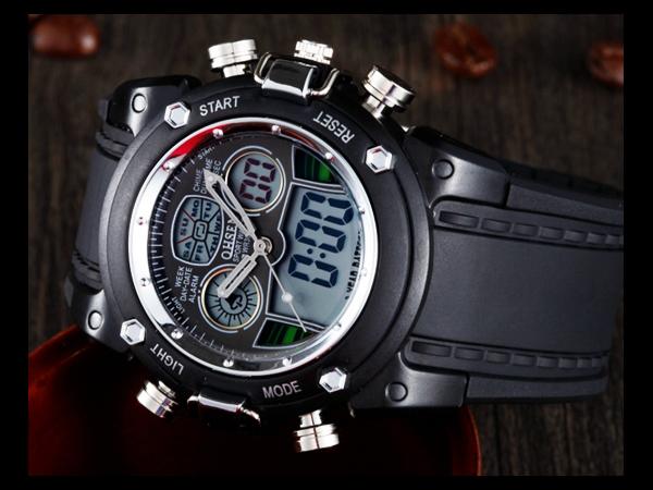 5 1 デジタル腕時計 新品★高級 ファッション タイムウォッチ付 デジタル 限定品 ビンテージ ミリタリー 防水 メンズ_画像1