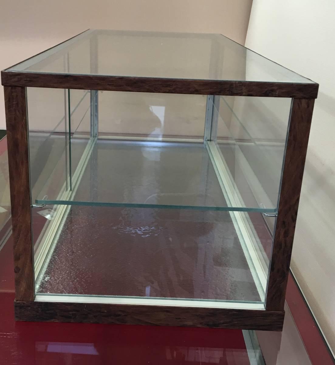 アンティーク調ガラスケース ショーケース 幅75㎝高さ28.5㎝ コレクションケースにも_画像4