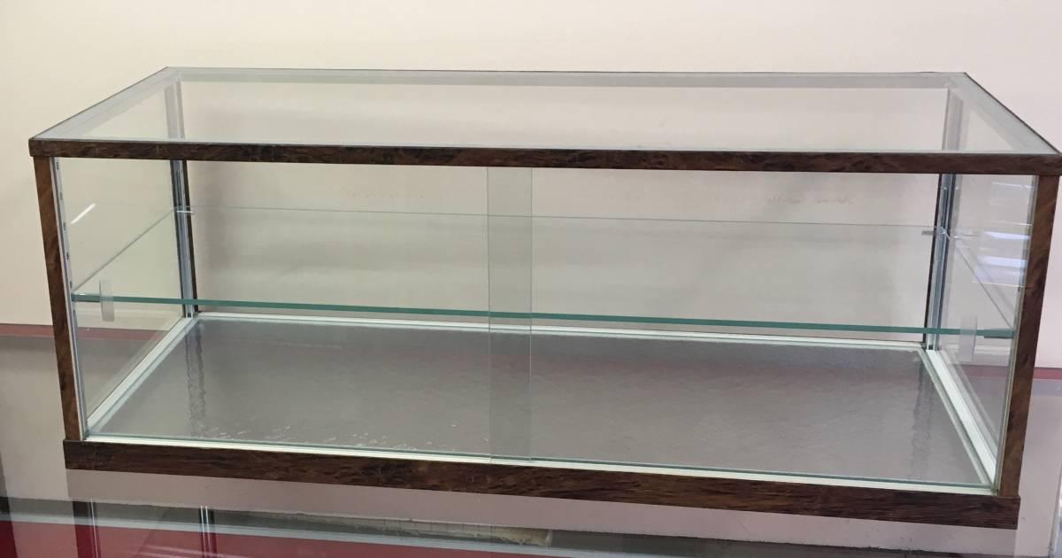アンティーク調ガラスケース ショーケース 幅75㎝高さ28.5㎝ コレクションケースにも_画像2