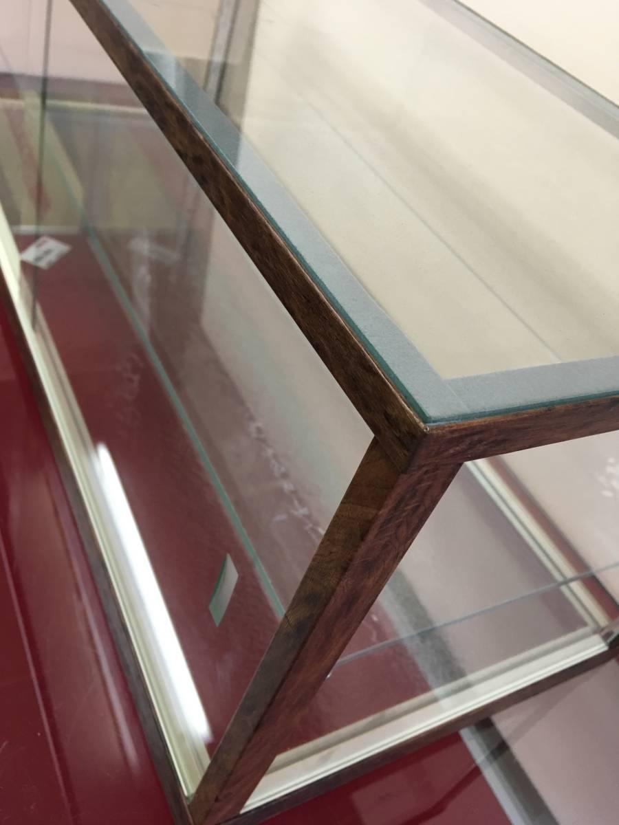 アンティーク調ガラスケース ショーケース 幅75㎝高さ28.5㎝ コレクションケースにも_画像7