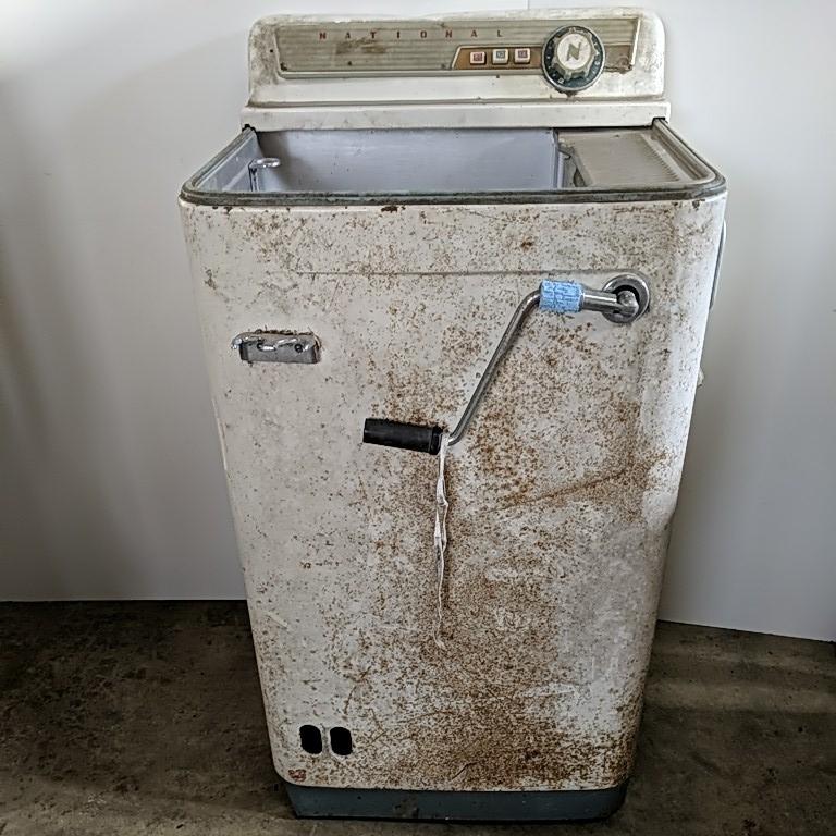 ※ジャンク品【National ナショナル 洗濯機】超希少 昭和 レトロ コレクター アンティーク