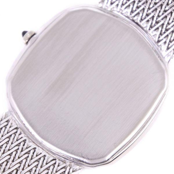 セイコー クレドール ダイヤベゼル 5930-5590 K18ホワイトゴールド クオーツ シルバー文字盤 腕時計 メンズ【20280102】_画像7