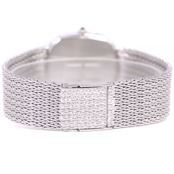 セイコー クレドール ダイヤベゼル 5930-5590 K18ホワイトゴールド クオーツ シルバー文字盤 腕時計 メンズ【20280102】_画像5