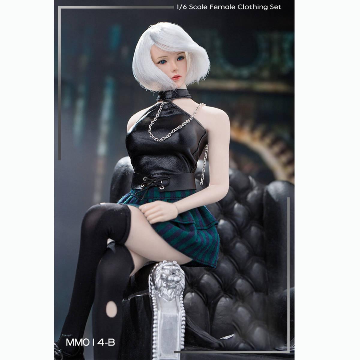 送料無料A26 1/6 サイズ Phicen /BLeague/Jiaou Doll素体対応 女性のファッションスーツ 衣装 7点セット 番号A26_画像3