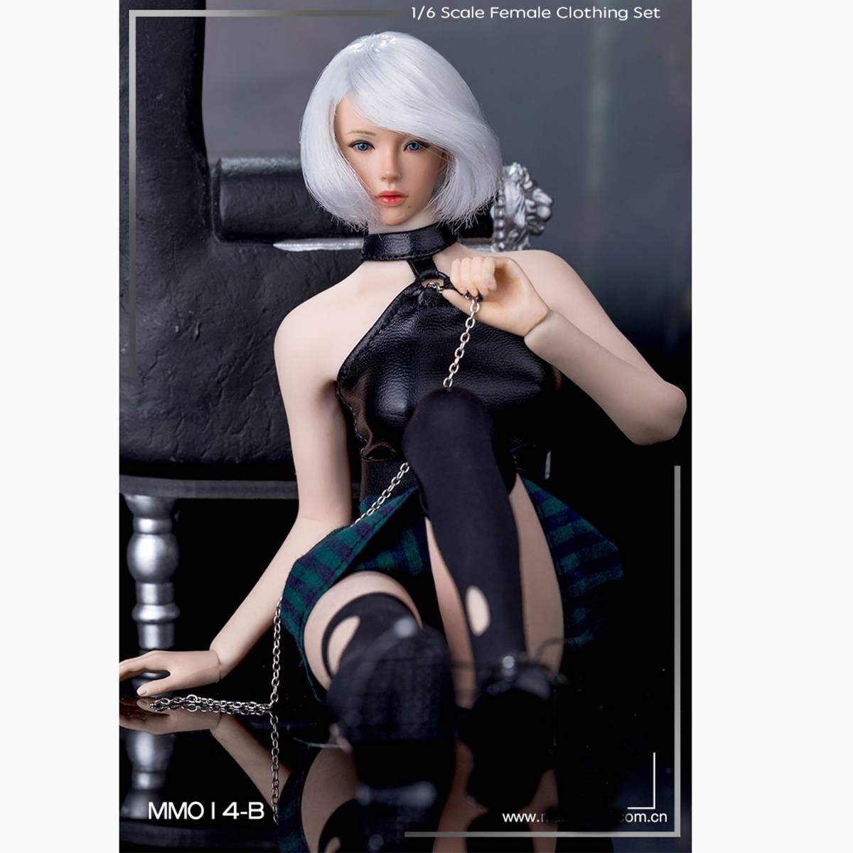 送料無料A26 1/6 サイズ Phicen /BLeague/Jiaou Doll素体対応 女性のファッションスーツ 衣装 7点セット 番号A26_画像2
