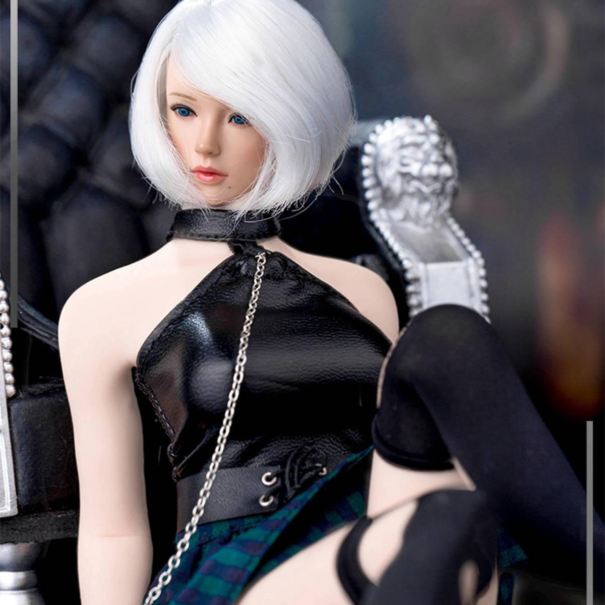 送料無料A26 1/6 サイズ Phicen /BLeague/Jiaou Doll素体対応 女性のファッションスーツ 衣装 7点セット 番号A26_画像5