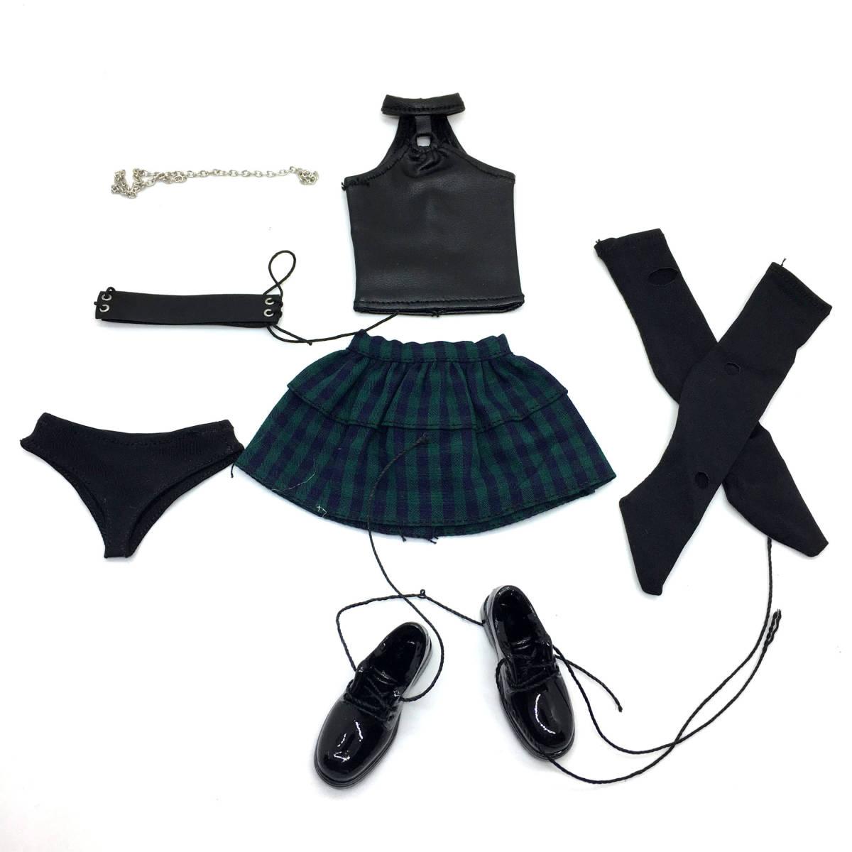 送料無料A26 1/6 サイズ Phicen /BLeague/Jiaou Doll素体対応 女性のファッションスーツ 衣装 7点セット 番号A26_画像7