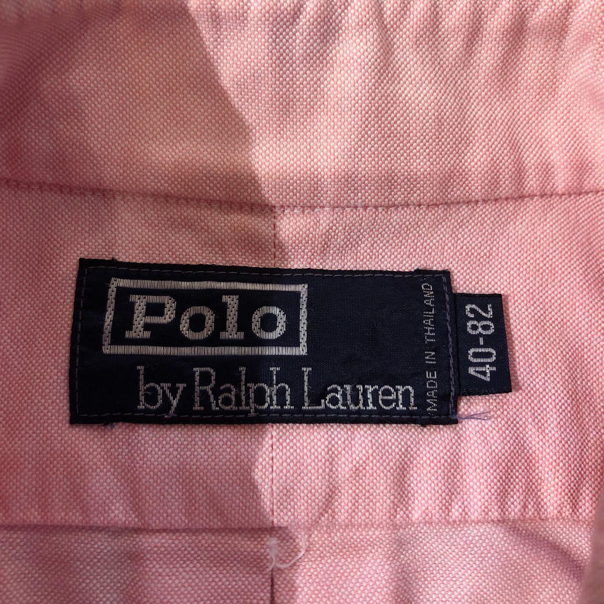 POLO Ralph Lauren ポロ ラルフ ローレン オックスフォード ボタンダウン シャツ ピンク ut-ai1128-007_画像3