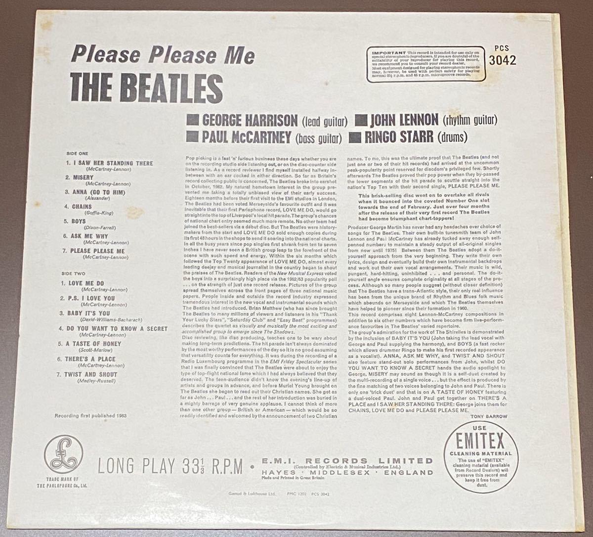 LP ビートルズ UK盤 THE BEATLES PLEASE PLEASE ME_画像2