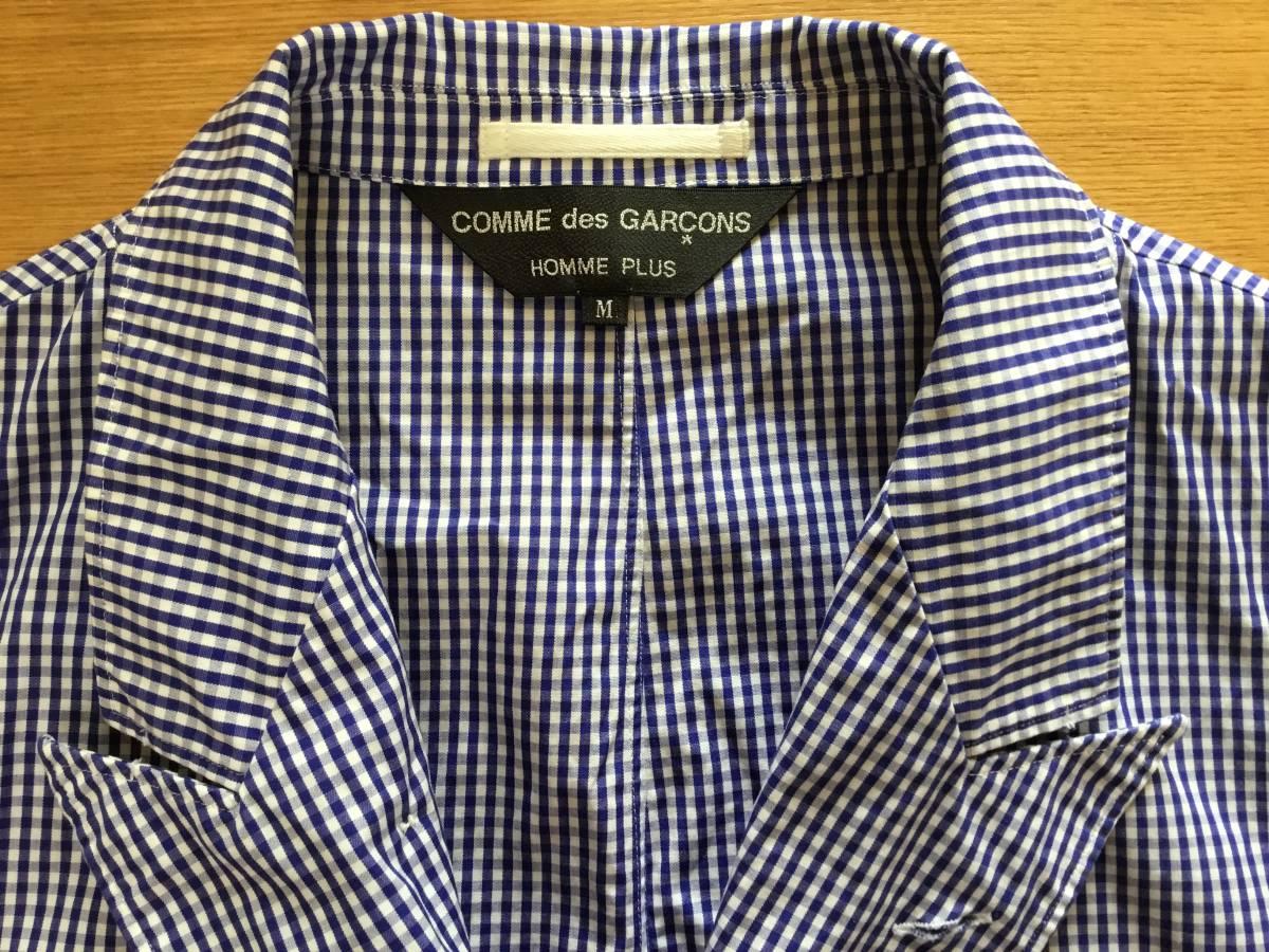 コムデギャルソンオムプリュス シャツジャケット 美品です。_画像4
