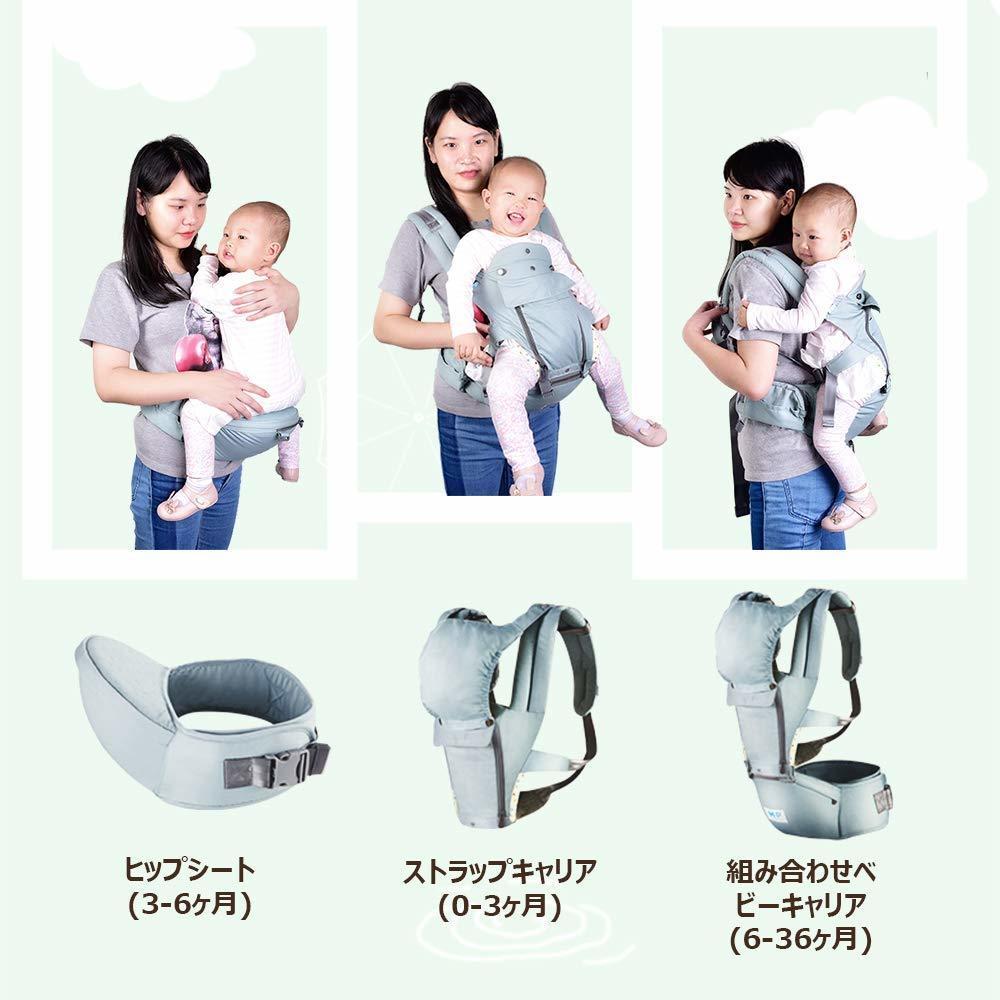 抱っこ紐 ベビーキャリアー ベビースリング 抱っこひも 3in1多機能 対面抱き 前向き抱き12wayタイプ ポケット付き 送料無料_画像2
