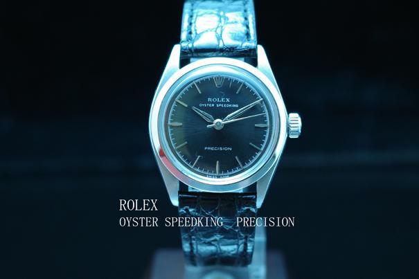 ロレックス ROLEX オイスター スピードキング プレシジョン アンティーク 1960年代 Ref.6430 動作良好 極美品 SS 極希少 本物 価格高騰中